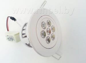 Светодиодный светильник встраиваемый точечный DLR-07H03-1 7W