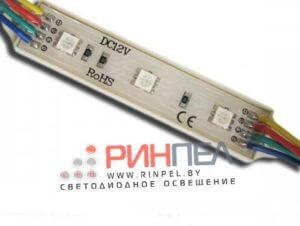 Светодиодный модуль на 3 диода 5050 0.72W RGB