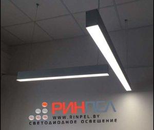 Подвесной линейный светодиодный светильник KVE Electric модель E-LINE-1250-20/40/60-1S