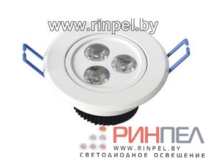 Светодиодный светильник встраиваемый точечный DLR-03H02-1 3W