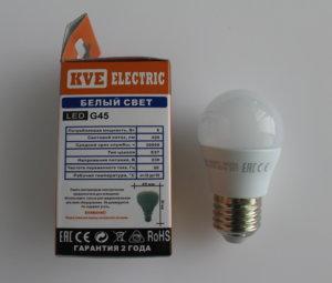 Светодиодная лампа G45-05SP1  Е27