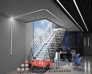 Встраиваемый линейный светодиодный светильник KVE E-LINE-1250-38
