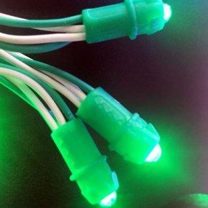 Светодиодные пиксели одноцветные (зелёные)