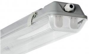Светодиодный светильник с лампами накладной 18W IP65 (Корпус ЛСП 2*18 с лампами 2* 9 Вт)